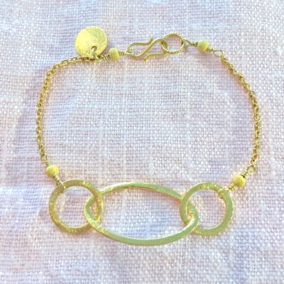 """Rosemary""-Armbånd i guld -Foto"