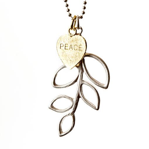 """B-leaves in Peace""- Armbånd i sølv og guld"