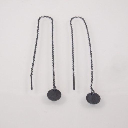"""""""Coins of Hope""""- Kæde-øreringe med mønter i oxideret sølv"""