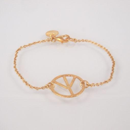 """""""Symbol of Peace, chain""""- Armbånd i guld, sølv og oxideret sølv"""