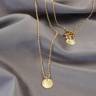 """""""Coins of Hope""""- Halskæde med mønter i guld"""