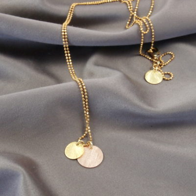 """""""Coins of Hope FGx2""""- Halskæde med mønter i guld"""