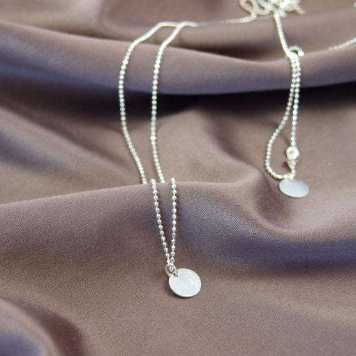 """""""Coins of Hope""""- Halskæde med mønter i sølv"""