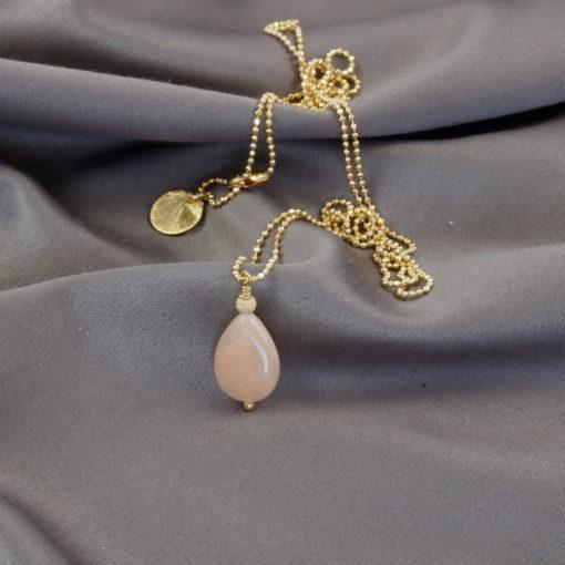 """""""Azalea""""- Halskæde i guld med jade"""