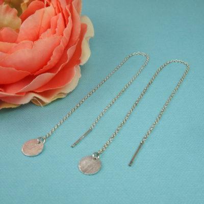 """""""Coins of Hope""""- Kæde-øreringe med mønter i sølv"""