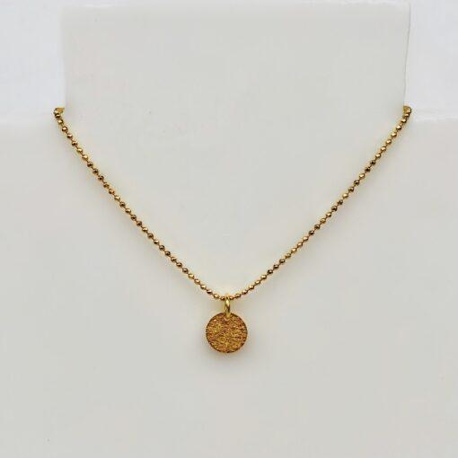 """Halskæde med mønter i forgyldt sølv, """"Coins of Hope"""" -Foto"""