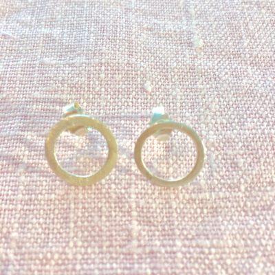 Øreringe Rosemary 2 - i sølv, håndlavede smykker -Foto