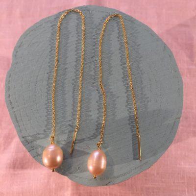Pearl Chain- Øreringe