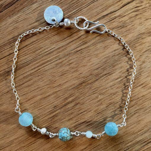 Blue anemone -Armbånd