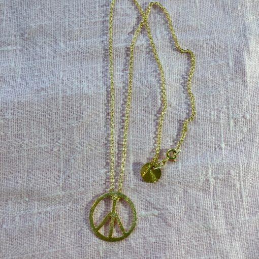 """Halskæde i guld, sølv og oxideret sølv, """"Symbol of Peace, chain"""""""