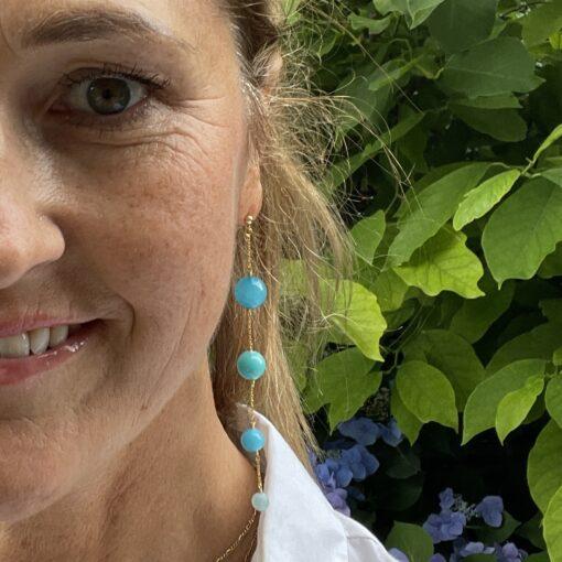Øreringe med blå jade, Blue ocean