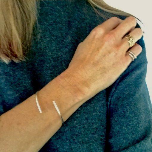 "Armbånd i sølv, ""Pure Simplicity"" -Foto"