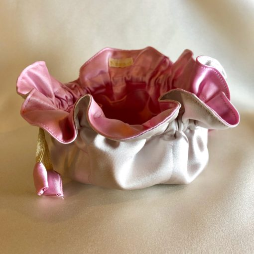 Smykkepose med 8 små rum i mange farvekombinationer -Foto