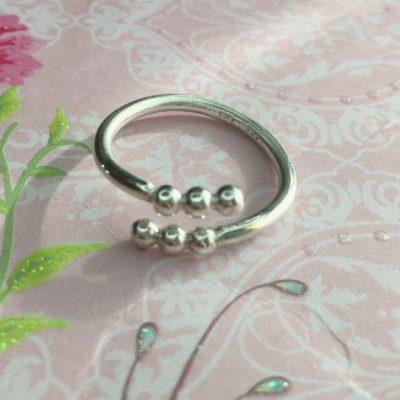 """Ring i sølv, """"Spring"""" -Foto"""