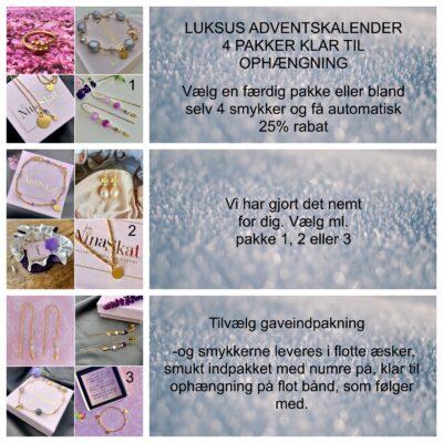 Luksus adventskalender- 4 pakker klar til ophængning