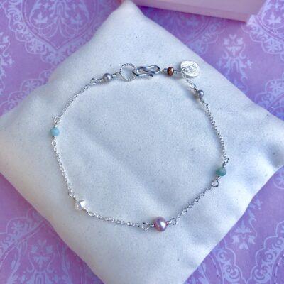 """Armbånd med små ferskvandsperler, sølv """"Baby pearls"""" -Foto"""