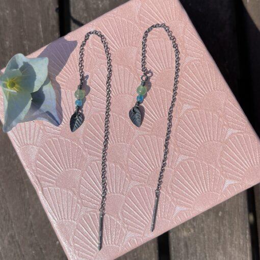 Kæde-øreringe, Pastel leaves, 2