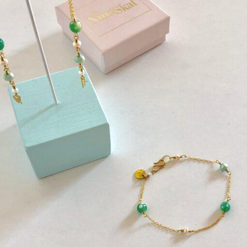"""Armbånd med små perler, """"Springtime"""" -Foto"""