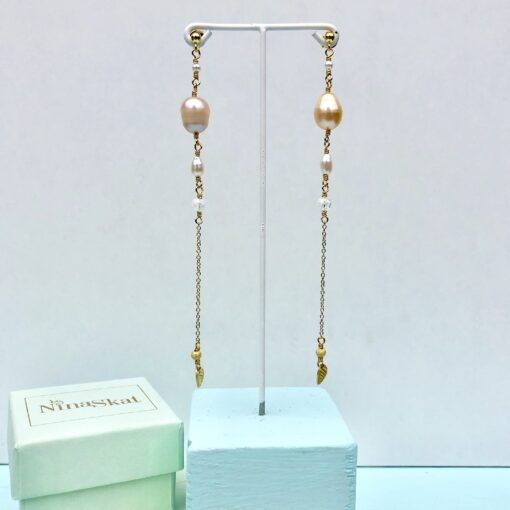 """Lange øreringe med perler """"Big romance 2"""""""