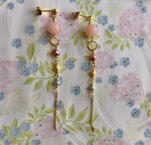 """""""Pink Opals"""" Øreringe"""