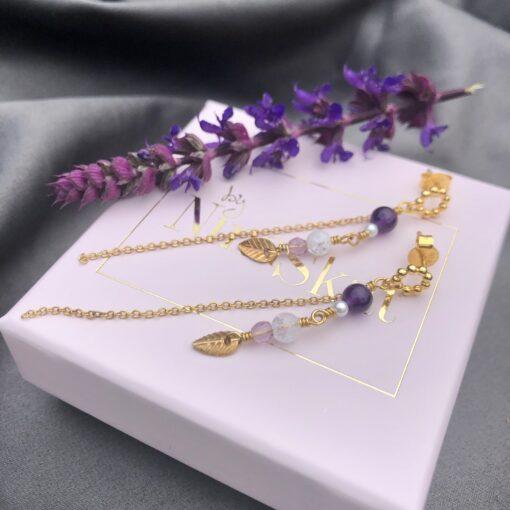 """Øreringe """"Lavender"""""""