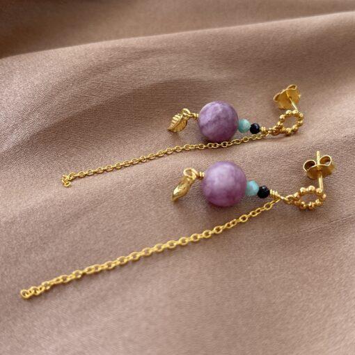 Øreringe, Purple jade